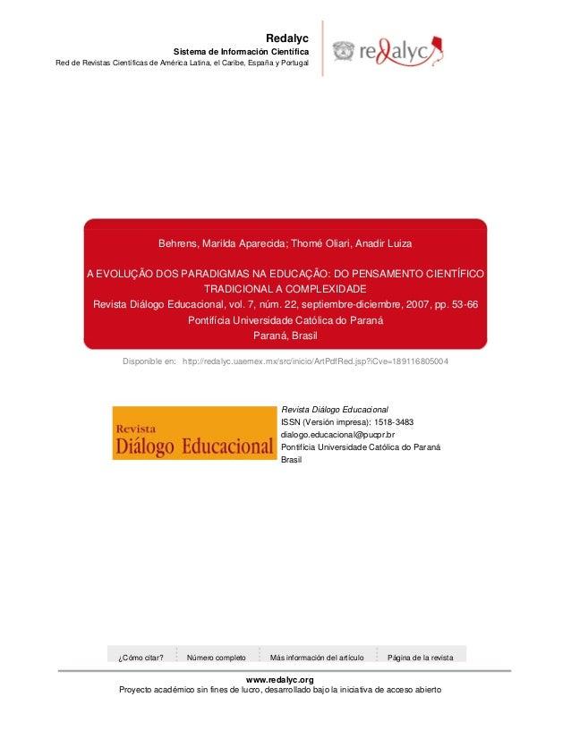 Evolução do pensamento científico na educação