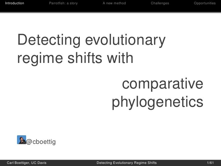 Detecting evolutionary regime shifts with comparative phylogenetics