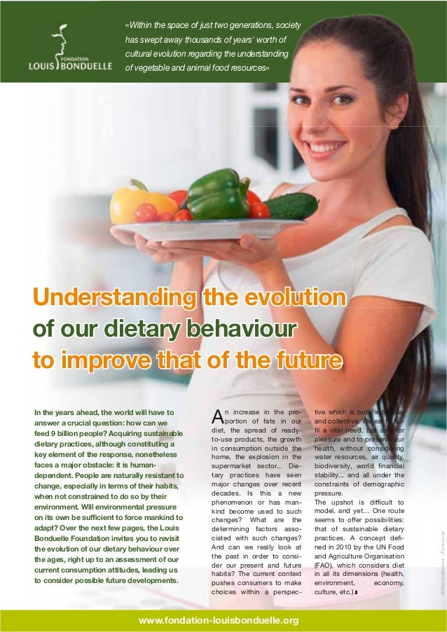 Understanding the evolution of our dietary behaviour to improve that of the future
