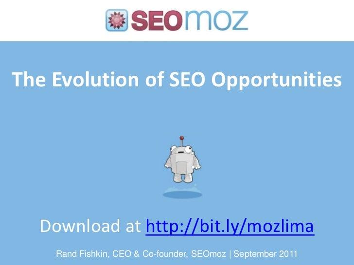 Evolution of SEO - Mozcation Lima