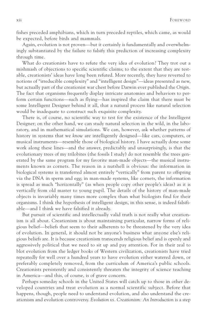 I need a 13 page essay explaining evolution vs creationism?