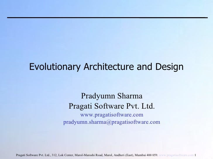 Evolutionary Architecture And Design