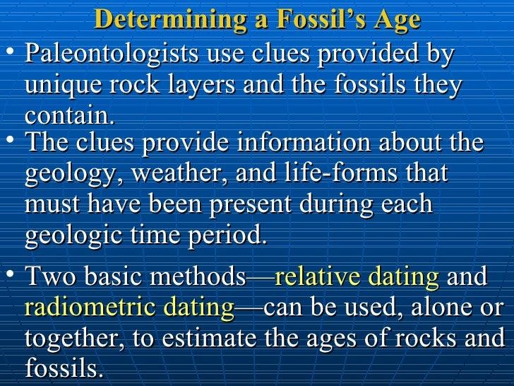 relative dating analogy