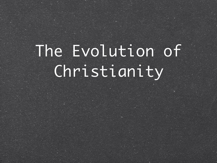 Evolution christianity