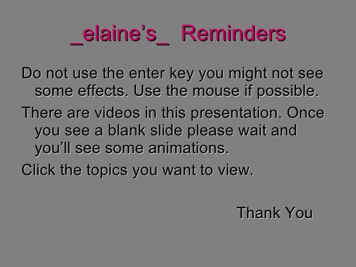 Evolution Elaine