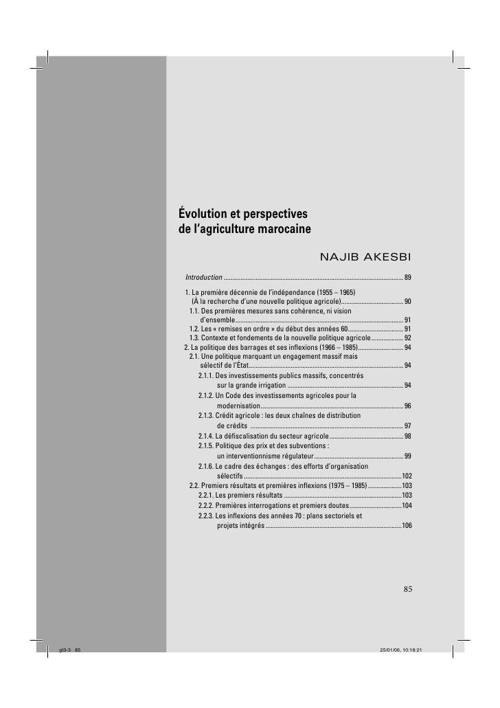 Évolution et perspectives            de l'agriculture marocaine                                                           ...