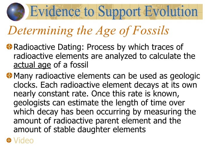 How can scientists use relative dating to determine the age of a fossil