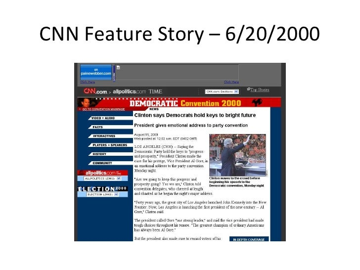 CNN Feature Story – 6/20/2000<br />