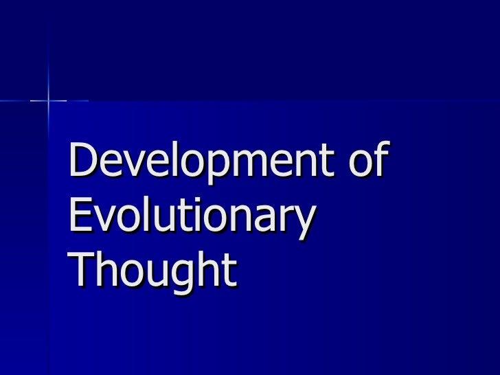 Evolution notes #1