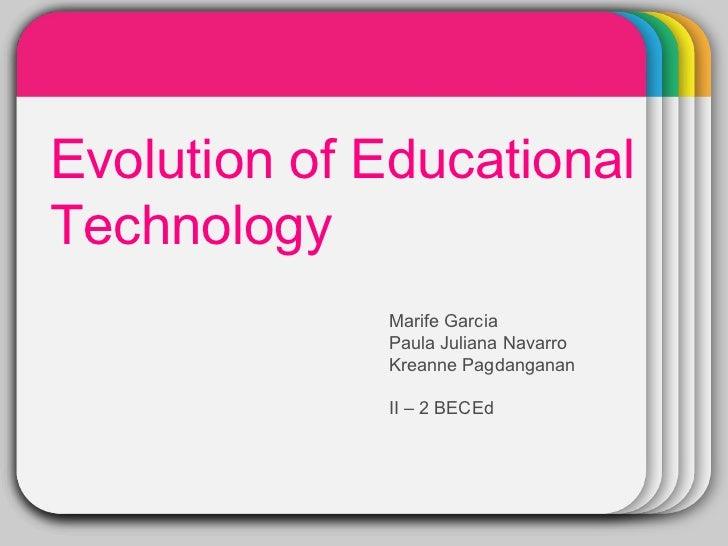 Evolution of ed tech