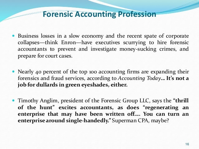 The Role of a Forensic Accountant in Today's Business Climate