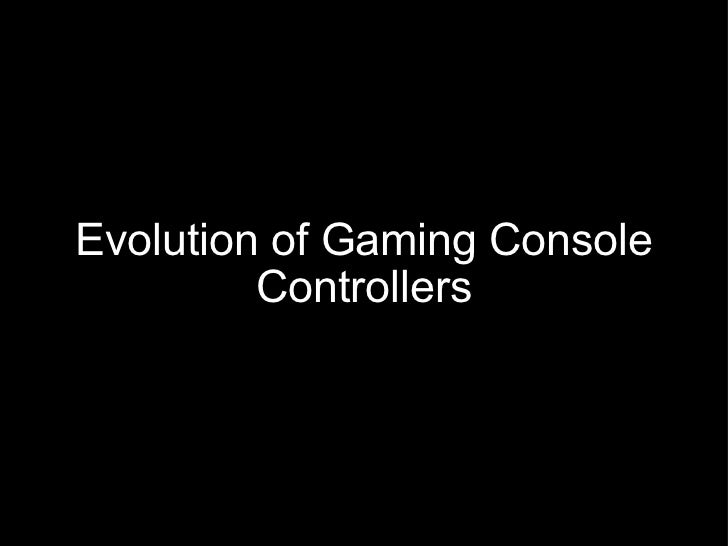 Evolution of gaming console controllers