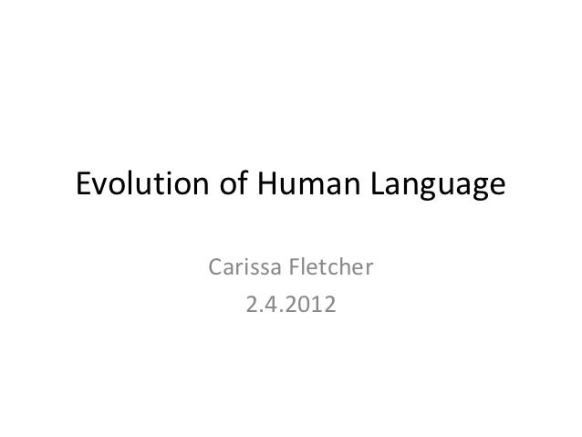 Evolution of human language final