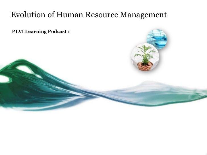 Evolution of human resources management
