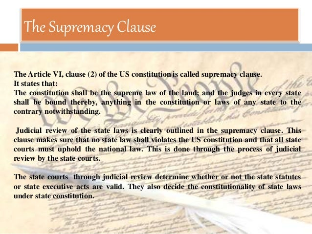 constitutional supremacy