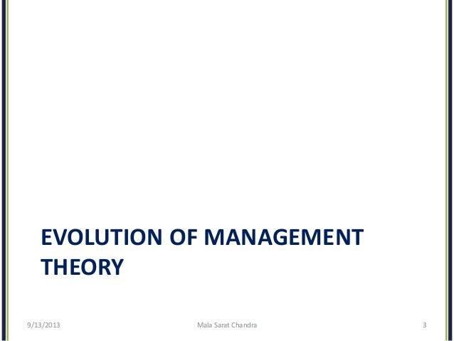 Essay on management theories