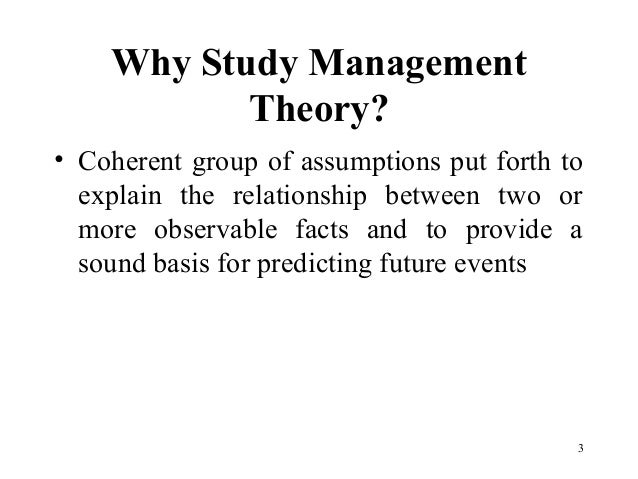 the evolution of management theory notes The evolution of management theory 435 by 1910, taylor's system of scientific management had become known and, in many instances, faithfully and fully practised5 however, managers in many organizations.