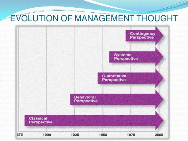 factors which influenced the evolution of management thought
