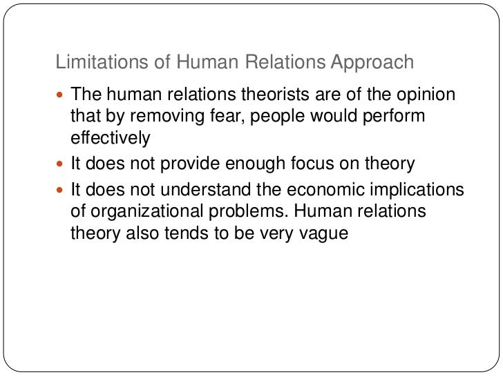 are scientific management and human relations The conventional wisdom in management thought is that human relations was the intellectual progeny of elton mayo and his associates, arising out of the fabled hawthorne 'experiments' and marked a distinct intellectual break from scientific managementthis article questions these sentiments and explores the contribution to human relations.