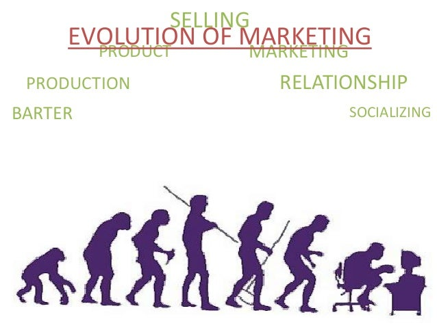 BARTER PRODUCTION PRODUCT RELATIONSHIP MARKETING SOCIALIZING SELLING EVOLUTION OF MARKETING