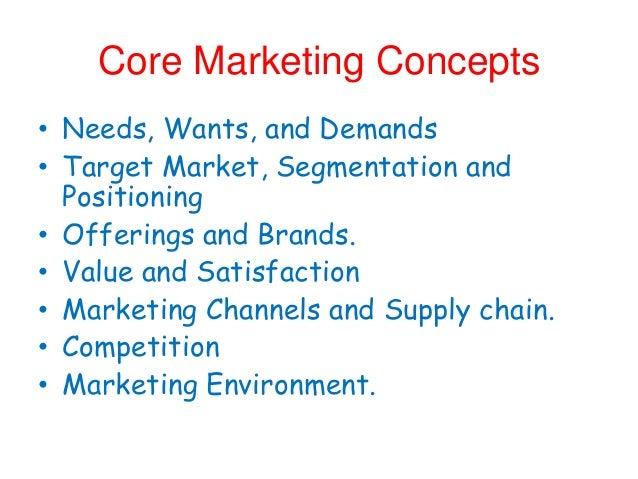 13 core marketing concepts