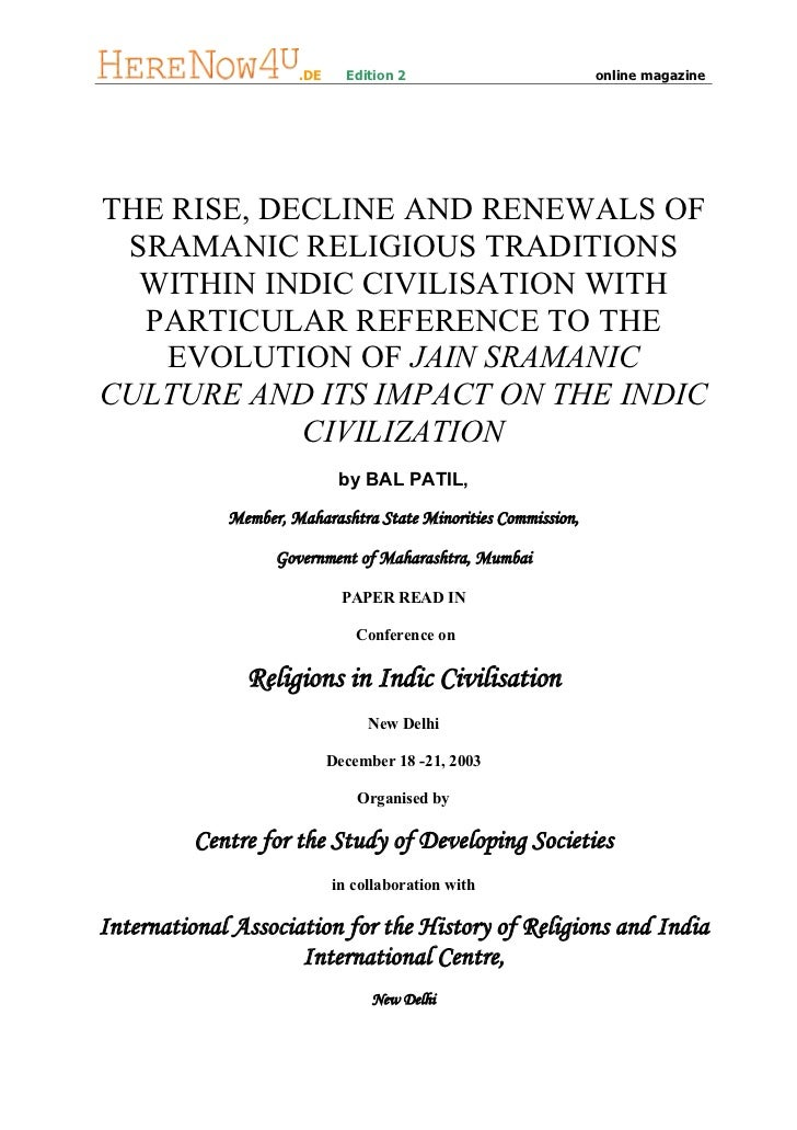 .DE     Edition 2                         online magazineTHE RISE, DECLINE AND RENEWALS OF SRAMANIC RELIGIOUS TRADITIONS  ...