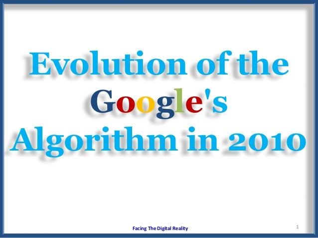 Evolution Of The Googles Algorithm In 2010