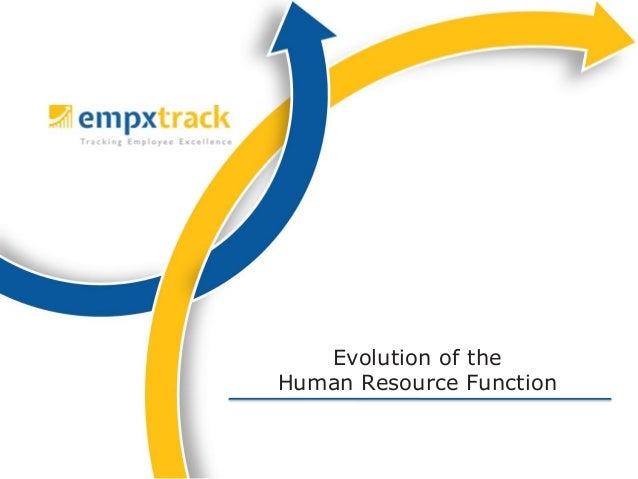Evolution of theHuman Resource Function