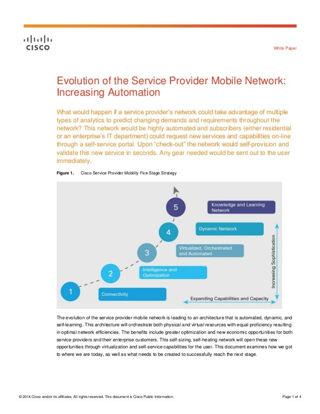 Evolution of the Service Provider Mobile Network: Increasing Automation