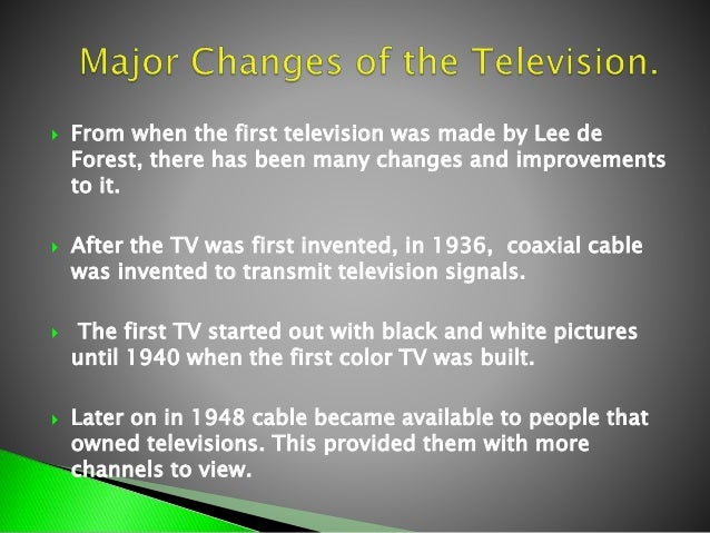 the evolution of television Maybe this book which looks at the evolution of television cooking shows can help written in an academic style whilst remaining relatively accessible to the casual reader, the author takes a predominantly us-biased look at the whole cooks on tv situation.