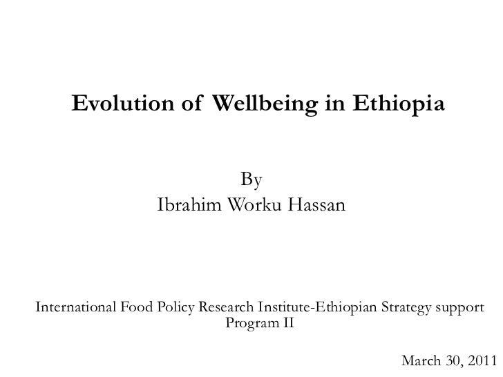 Evolution of wellbeing