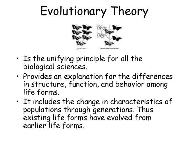 evolutionary as unifying Tracking the course of evolution creating a curriculum in evolution by kevin padian major goals 1 evolution is the central unifying theory of biology 2 evolution is integrally related to other sciences.