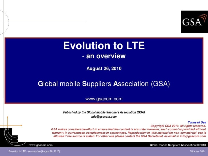 Evolution to LTE                                                                 - an overview                            ...
