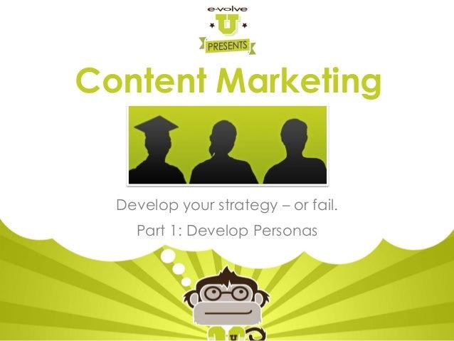 Establishing Content Marketing Personas