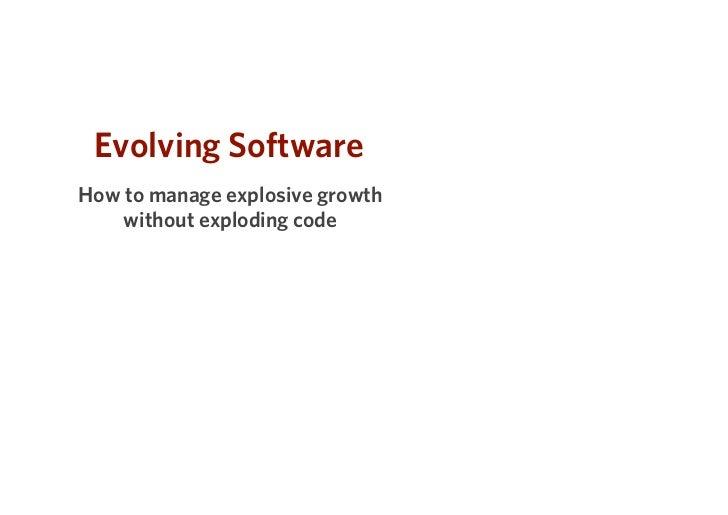 Evolving Software Patterns