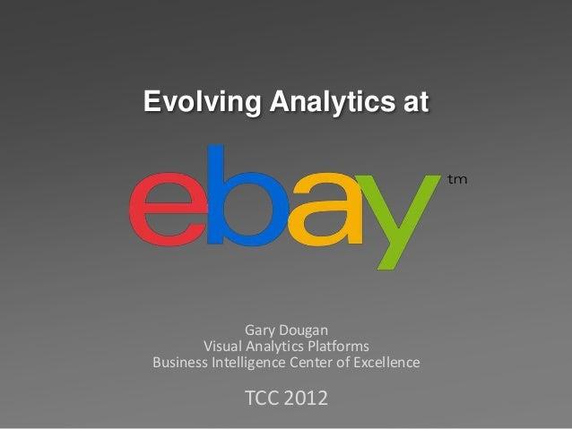 Evolving Analytics at               Gary Dougan       Visual Analytics PlatformsBusiness Intelligence Center of Excellence...