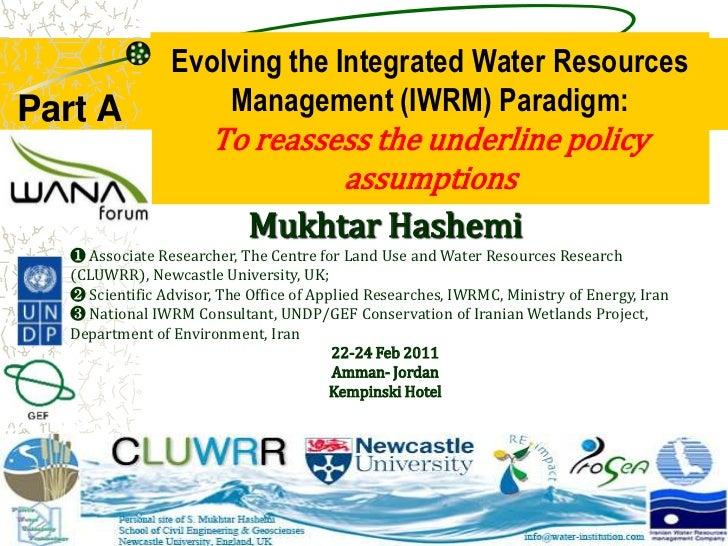 Evolving IWRM Mukhtar Hashemi