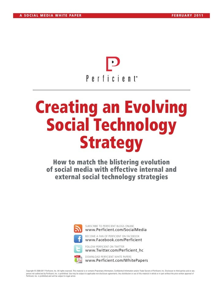 Creating an Evolving Social Technology Strategy