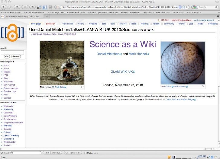 Science as a wiki