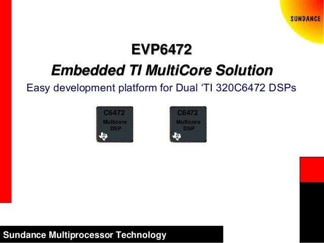 Sundance Multiprocessor Technology EVP6472 Embedded TI MultiCore Solution Easy development platform for Dual 'TI 320C6472 ...