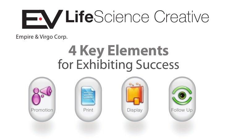 LifeScience Creative Empire & Virgo Corp.                         4 Key Elements                  for Exhibiting Success  ...