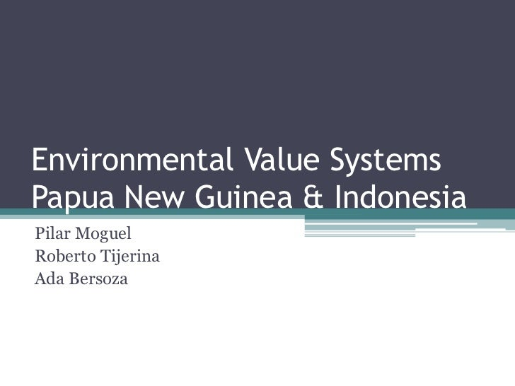 Environmental Value Systems
