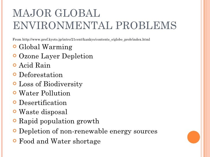 the affects of environmental problems on the economic development Environmental issues, and the ones related to the exploitation of natural  resources  regarding global issues-ie the ones which affect the international   globalization, population growth, economic and social development,.