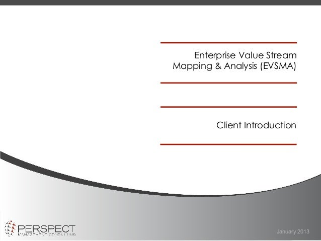 Enterprise Value Stream Mapping & Analysis - Perspect Management Consulting