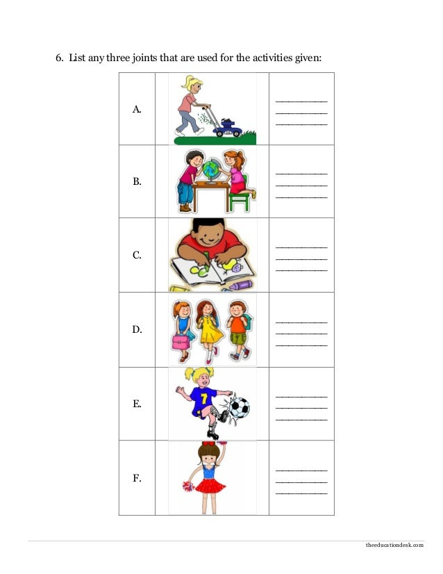 ... science evs body parts worksheet class ii : Worksheets For Grade 2 Evs