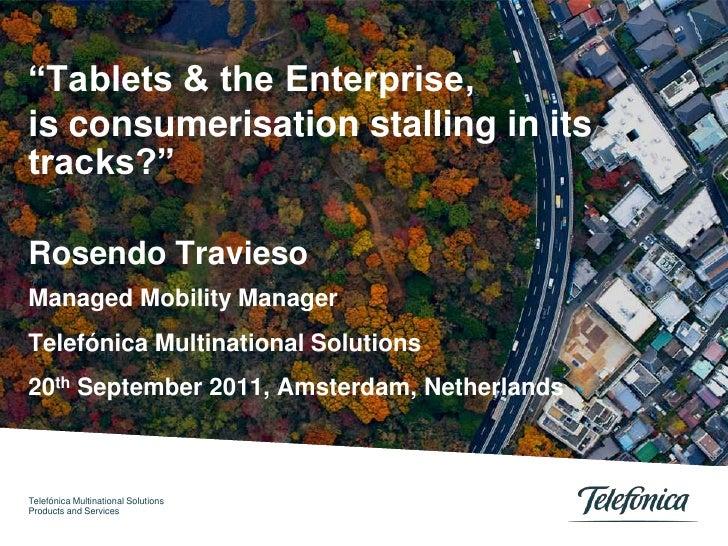 Evua Enterprise Mobility 2011 - Tablets & The Enterprise
