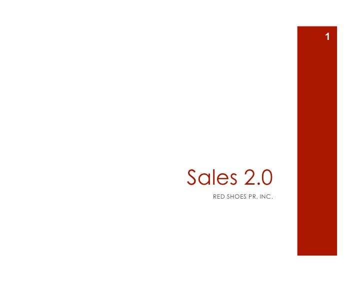 1     Sales 2.0   RED SHOES PR, INC.