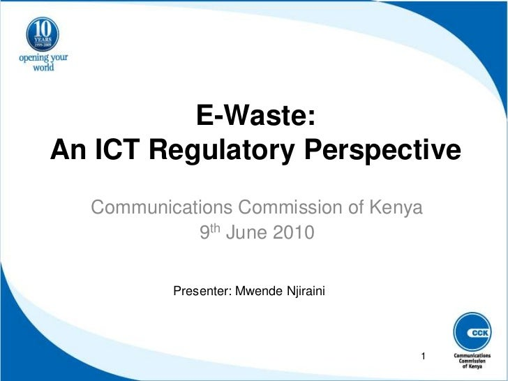 E Waste An Ict Regulatory Perspective