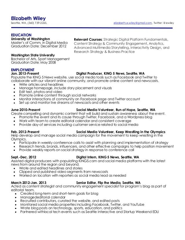 Template  Athletic Training Resume