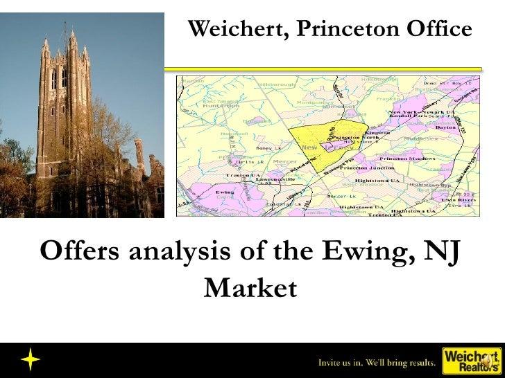 Weichert, Princeton Office Offers analysis of the Ewing, NJ Market